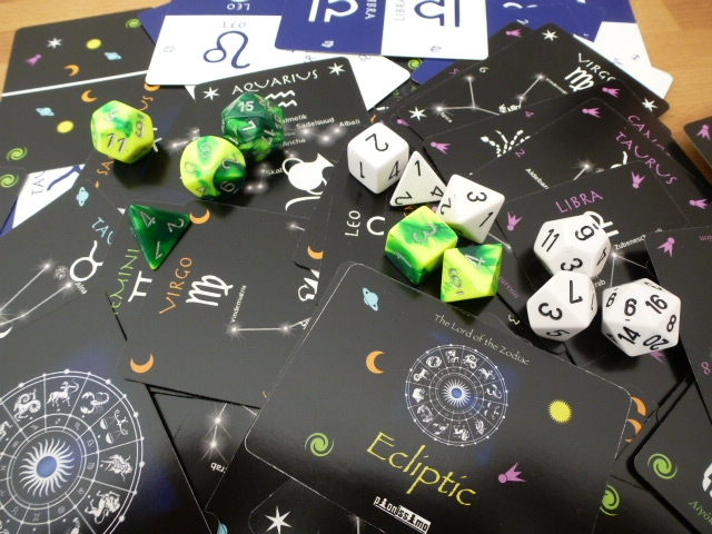 The pleasure of astronomical cards and polyhedral dice